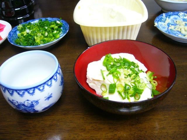 朝食に遠野の最高に美味しいお豆腐でした!!朝お豆腐屋さんに買いに行く楽しさ!!