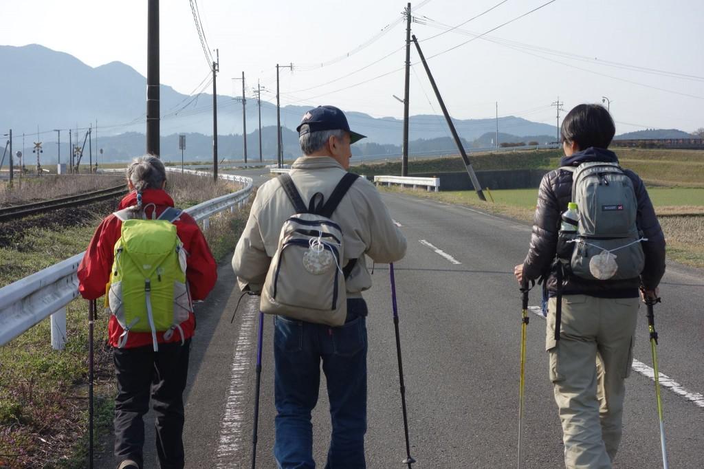 カトリックの巡礼のシンボル「帆立貝」をリュックにつけて、歩きました。 南三陸町の漁師の方にもらった帆立貝です。